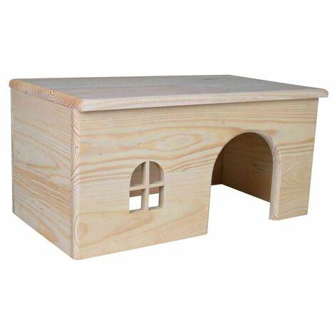 Maisonnette en bois pour lapins - 40 × 20 × 23 cm