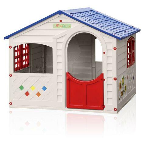 Maisonnette en plastique pour enfants jardin exterieurs Grand Soleil CASA MIA