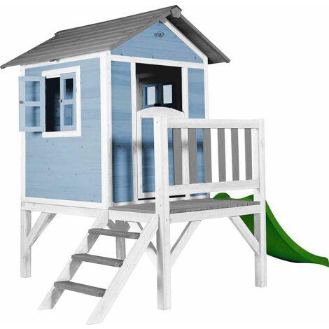 Maisonnette enfant Sunny Lodge XL en hemlock Bleu