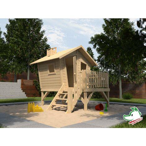 "main image of ""Maisonnette Lotti en bois, avec escaliers et terrasse Tabaluga, WEKA."""