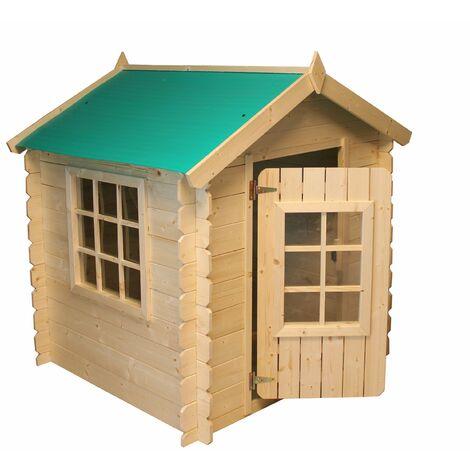 Maisonnette pour enfants en bois Gretel 1.10m2 - 105x105x121cm. Maison d'enfants Jardin Cabane