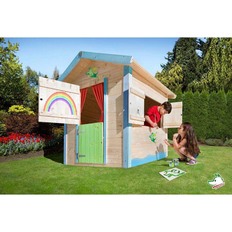 Maisonnette pour enfants Tabaluga en bois - Weka