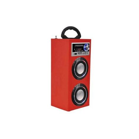 """main image of """"Majestic Torre Audio TS-78 BT/USB/SD/AUX/RADIO Luci Disco Red"""""""