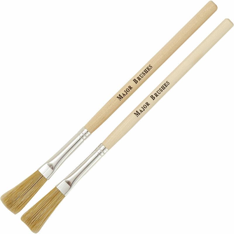 Image of Major Brushes 100mm Handle Hog Paste Brushes - Pack of 10