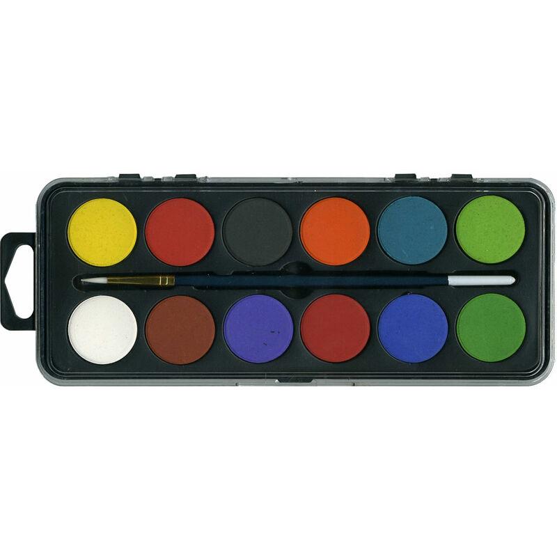 Image of Major Brushes 12-disk Watercolour Set