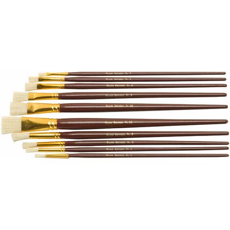 """main image of """"Major Brushes Hog Bristle Oil and Acrylic Brush Set of 10"""""""