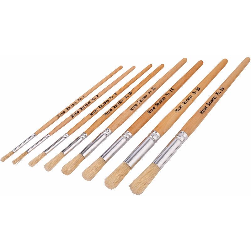 Image of Hogs Hair Educational Brush Pack, Round (Various sizes Box of 300) - Major Brushes