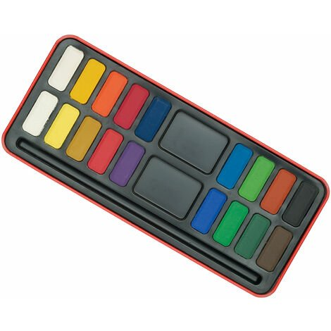 Major Brushes Watercolour Painting Tin-18 Block