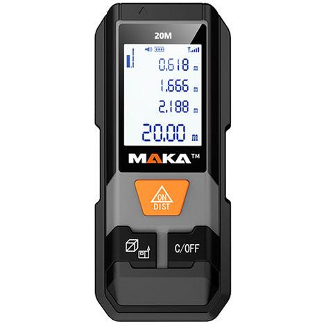Maka Mk202 Infrarouge Telemetre Laser A Haute Precision Electronique Appareil De Poche Regle Mini Distance Precise L'Equipement De Mesure Range Finder Portable, 40M
