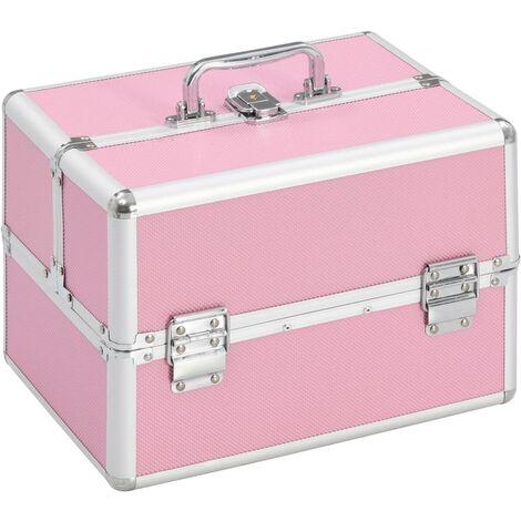 Make-up Case 22x30x21 cm Pink Aluminium