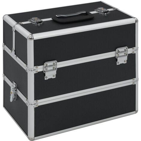 Make-up Case 37x24x35 cm Black Aluminium