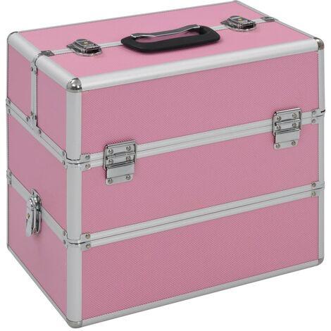 Make-up Case 37x24x35 cm Pink Aluminium