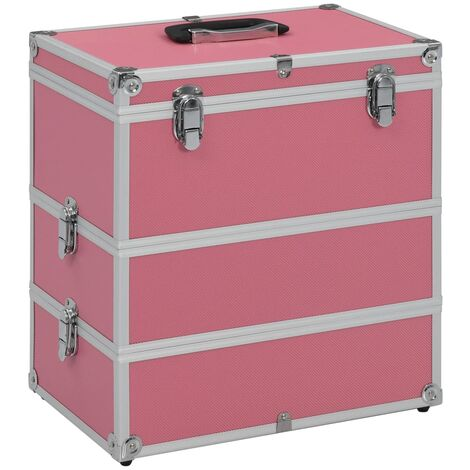 Make-up Case 37x24x40 cm Pink Aluminium