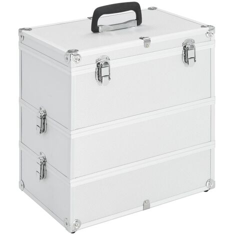 Make-up Case 37x24x40 cm Silver Aluminium
