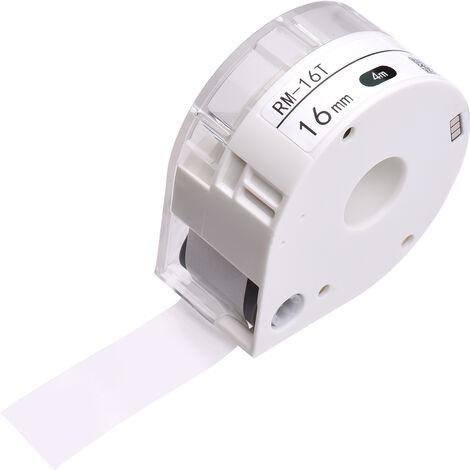 Makeid 1 Rouleau Transparent Etiquette Papier Adhesif Papier Thermique Nom Etanche Prix Barcode Stockage Etiquette Autocollant Ruban Adhesif Pour Machine Label Maker Portable T7, Transparent, 16 Mm X 4 M