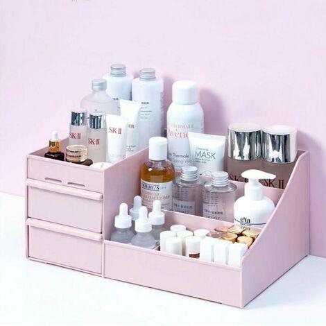 "main image of ""Makeup Organizer for Cosmetics Large Capacity Cosmetic Storage Box Organizer Desk Jewelry Nail Polish Makeup"""