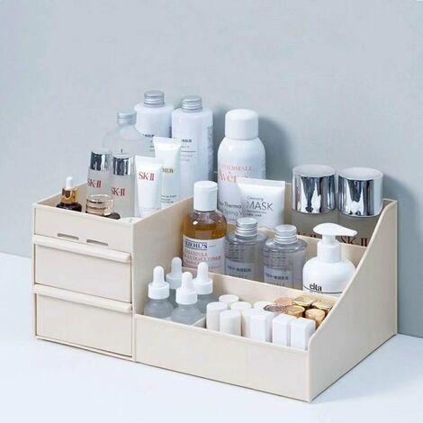 "main image of ""Makeup Organizer for Cosmetics Large Capacity Cosmetic Storage Box Organizer Desk Jewelry Nail Polish Makeup Drawer"""