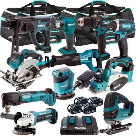 Makita 11 Piece Power Tool Kit 18V LXT 4 x 5.0Ah Batteries T4TKIT-261