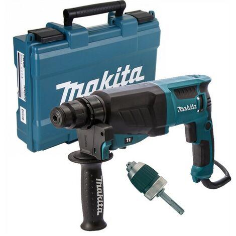 Makita 110v SDS + 3 Mode Rotary Hammer Drill HR2630 Heavy Duty + Chuck + Adaptor