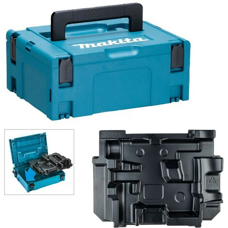 Makita 12v Max 10.8v HR166 HR140 SDS Makpac Tool Case and Inlay for Type 2 Case