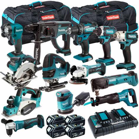 Makita 13 Piece Power Tool Kit 18V LXT 4 x 5.0Ah Batteires T4TKIT-256