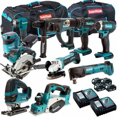 Makita 18V 10 Piece Cordless Kit T4TKIT-265
