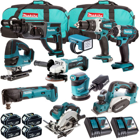 Makita 18V 10 Piece Cordless Kit T4TKIT-721:18V