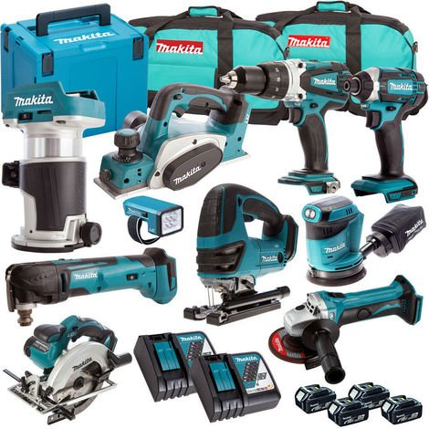 Makita 18V 10 Piece Cordless Kit T4TKIT-722:18V