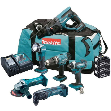 Makita 18V 6 Piece Cordless Kit T4TKIT-184:18V