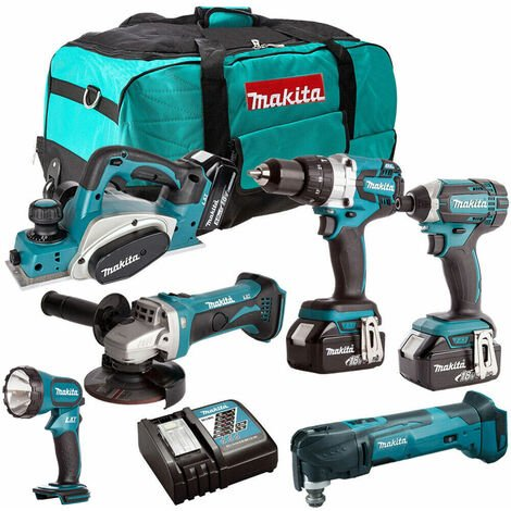 Makita 18V 6 Piece Power Tool Combo Kit with 3 x 3.0Ah Batteries T4TKIT-220:18V
