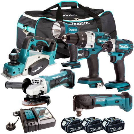 Makita 18V 6 Piece Power Tool Combo Kit with 3 x 5.0Ah Batteries T4TKIT-219:18V