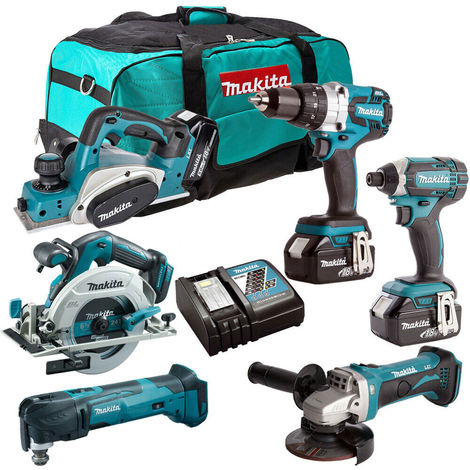Makita 18V 6 Piece Power Tool Combo Kit with 3 x 5.0Ah Batteries T4TKIT-227:18V