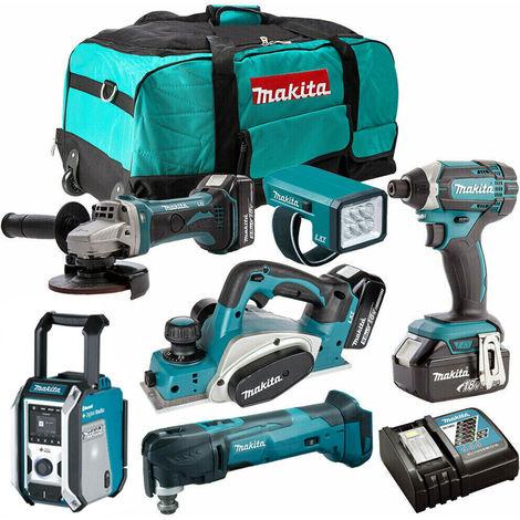 Makita 18V 6 Piece Tool Kit with 3 x 4.0Ah Li-ion Batteries T4TKIT-350:18V