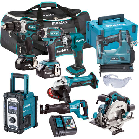 Makita 18V 8 Piece Monster Kit with 2 x 5.0Ah Batteries & Charger in Bag T4TKIT-315