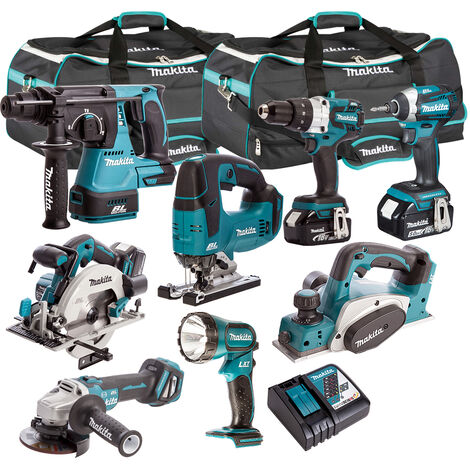 """main image of """"Makita 18V 8 Piece Power Tool Kit with 3 x 5.0Ah Batteries & Charger T4TKIT-314:18V"""""""