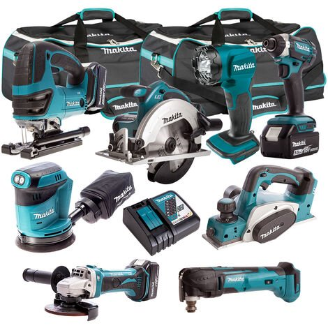 Makita 18V 8 Piece Power Tool Kit with 3 x 5.0Ah Batteries & Charger T4TKIT-320