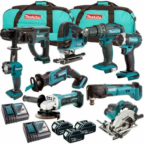 Makita 18V 9 Piece Cordless Kit T4TKIT-213:18V