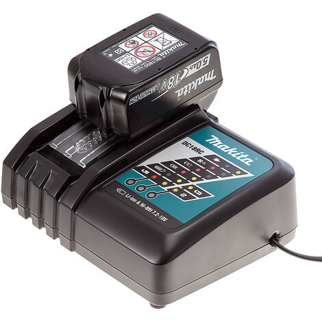 Makita 18V BL1850 5Ah Battery & DC18RC Charger Bundle
