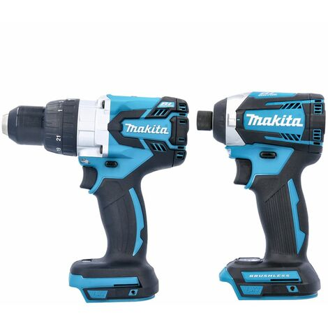 Makita 18V Brushless DHP481Z Combi Drill & DTD154Z Impact Driver Twin Pack (No Batteries)