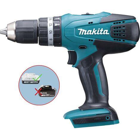 Makita 18v Cordless Combi Hammer Drill Lithium Ion HP457D - Bare Unit - BL1813G