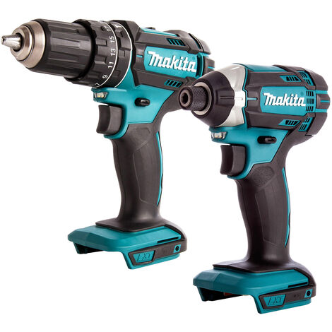 Makita 18V Cordless Twin Pack Combi Drill with Impact Driver Body Only:18V