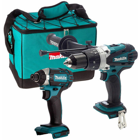 Makita 18V DHP458Z Combi Drill + Makita DTD152Z Impact Driver with Tool Bag