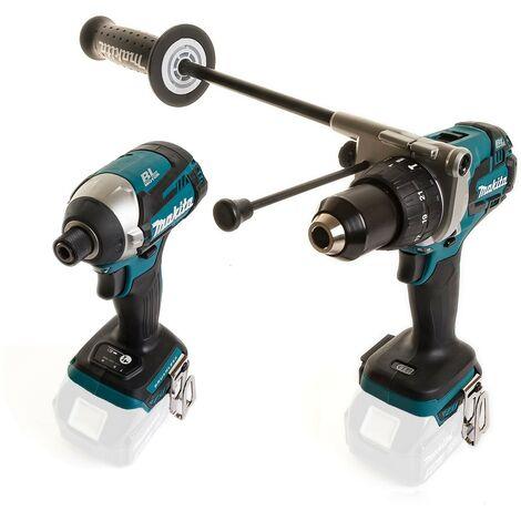 Makita 18V DLX2176 Lithium Brushless Kit DHP481 Drill DTD154 Impact - Bare Tools
