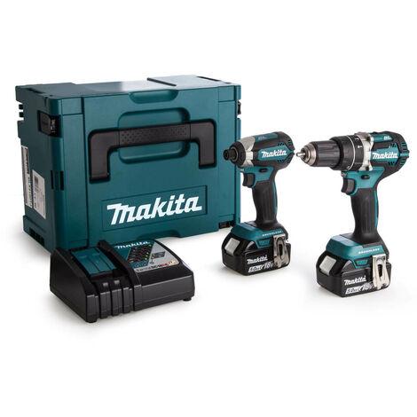 Makita 18v DLX2180TJ Brushless Kit - DHP484 Hammer Drill + DTD153 Impact Driver