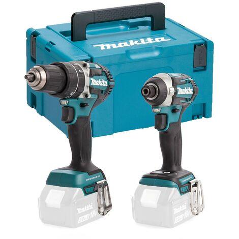 Makita 18v DLX2181 Brushless Kit DHP484 Hammer Drill DTD154 Impact Driver Makpac