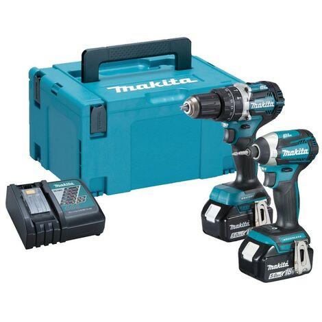Makita 18v DLX2181TJ Brushless Kit - DHP484 Hammer Drill + DTD154 Impact Driver