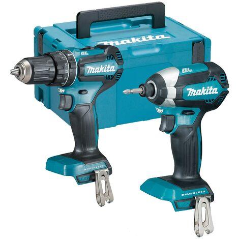 Makita 18v DLX2283 Brushless Kit DHP485 Hammer Drill DTD153 Impact Driver +Case