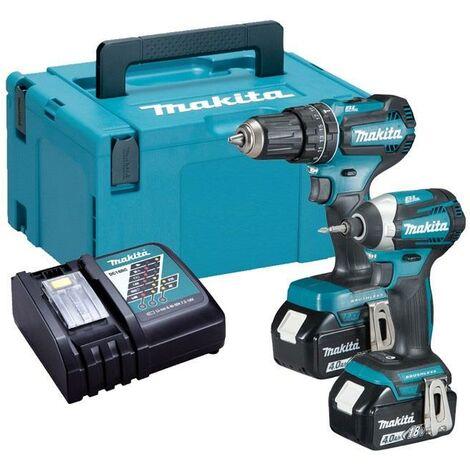 Makita 18v DLX2283MJ Brushless Kit DHP485 Hammer Drill DTD153 Impact Driver 4ah