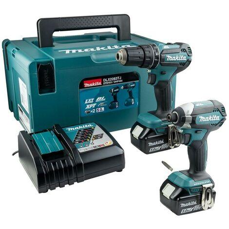 Makita 18v DLX2283TJ Brushless Kit DHP485 Hammer Drill DTD153 Impact Driver 5ah