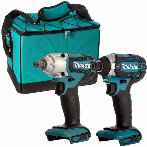 Makita 18V DTW190Z Impact Wrench + Makita DTD152Z Impact Driver with Tool Bag